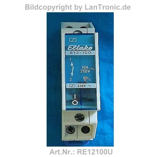 relais r12 100 mit handbet tigung eltako lantronic et. Black Bedroom Furniture Sets. Home Design Ideas