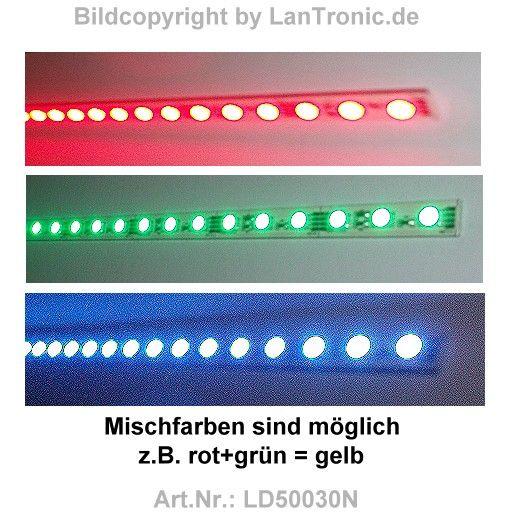 led leiste color rgb superhell 30 x led mit stiftbuchsen lantronic et. Black Bedroom Furniture Sets. Home Design Ideas